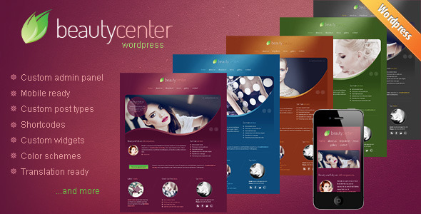 Beauty Center - Responsive Wordpress Theme - theme preview screenshot