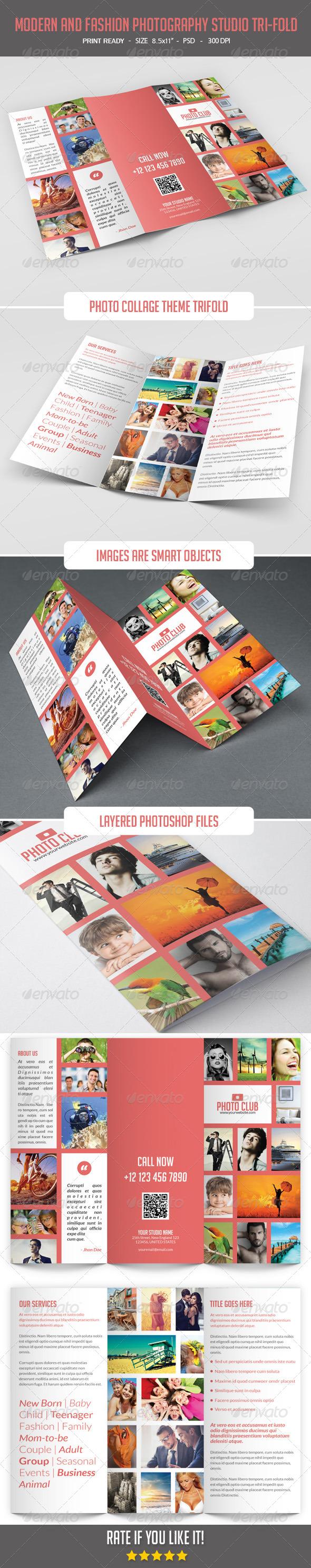 GraphicRiver Modern and Fashion Photography Studio Tri-Fold 8063144