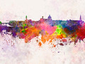 Florence skyline in watercolor background - PhotoDune Item for Sale