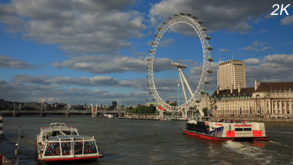 London Skyline With London Eye And Westminster
