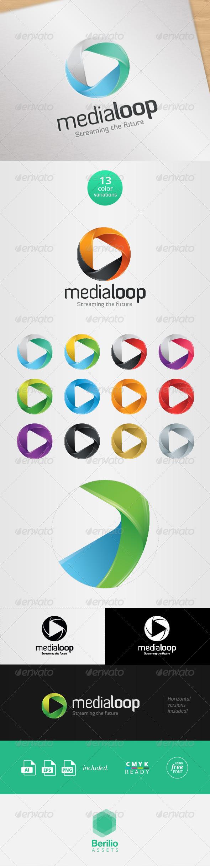 GraphicRiver Media Loop Logo Template 8063636