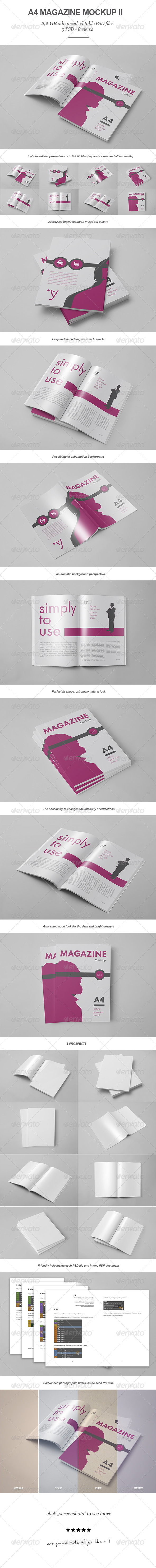 GraphicRiver Magazine Brochure Mock-up II 8063653