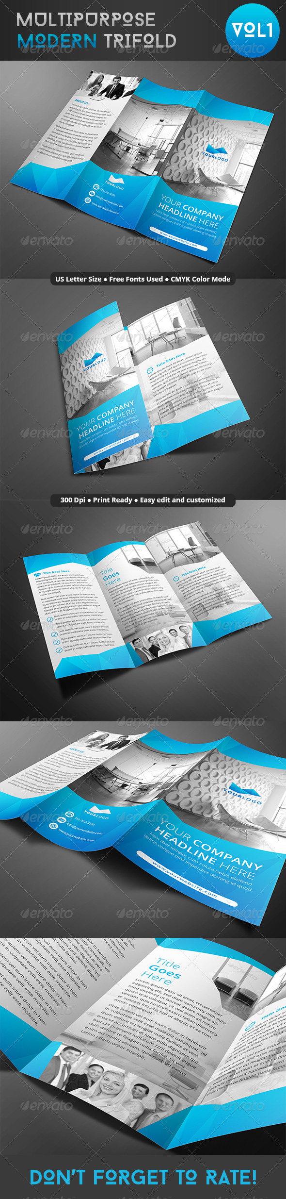 GraphicRiver Multipurpose Modern Trifold 8064198