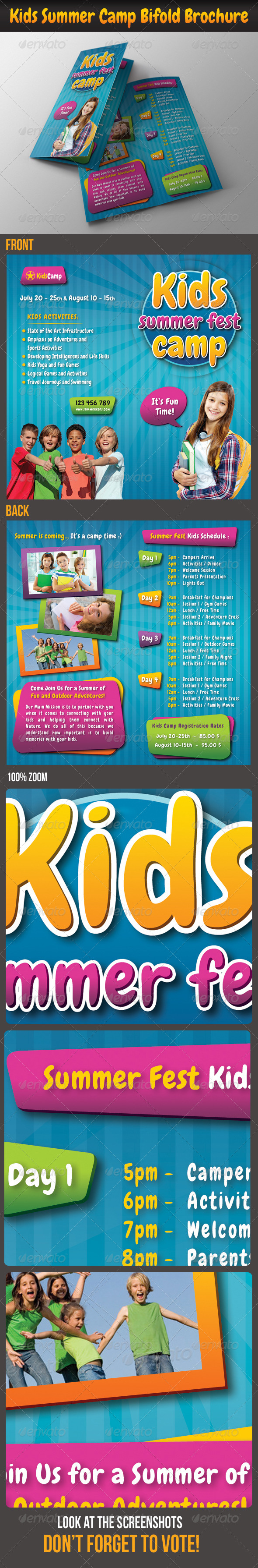 GraphicRiver Kids Summer Camp Bifold Brochure 01 8064324