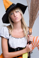 Witch Holding Broom - PhotoDune Item for Sale