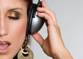 Headphones Music Girl - PhotoDune Item for Sale