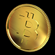 Golden Bitcoin - GraphicRiver Item for Sale