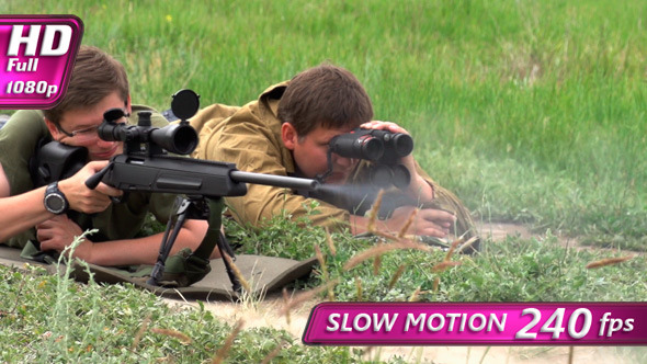 VideoHive Sniper Makes the Shot 8064701