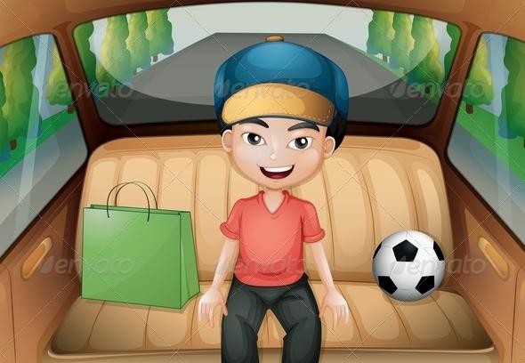 GraphicRiver A Boy Sitting Inside a Running Car 8064711