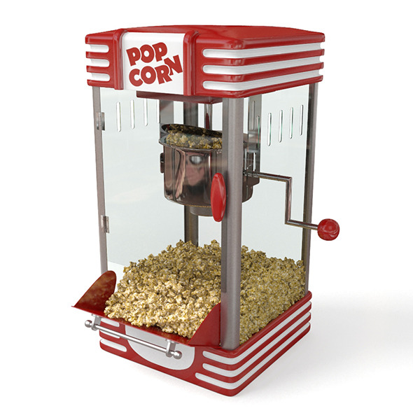 Popcorn machine - 3DOcean Item for Sale