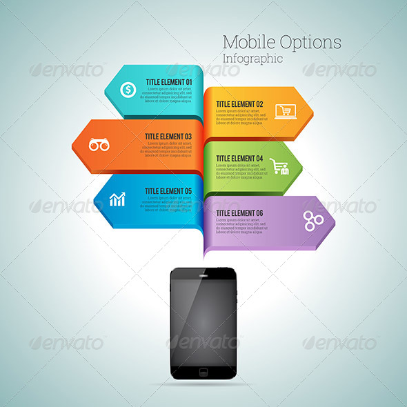 GraphicRiver Mobile Option Infographic 8064874