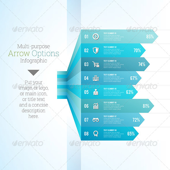 GraphicRiver Multipurpose Arrow Option Infographic 8064877