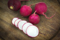 Organic Radishes on wood - PhotoDune Item for Sale