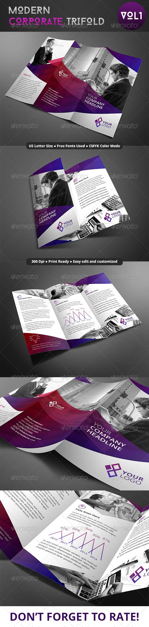 GraphicRiver Modern Corporate Trifold 8064902