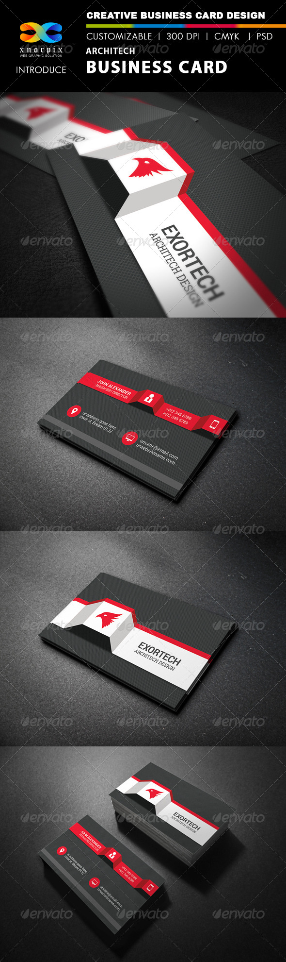 GraphicRiver Architect Business Card 8064990