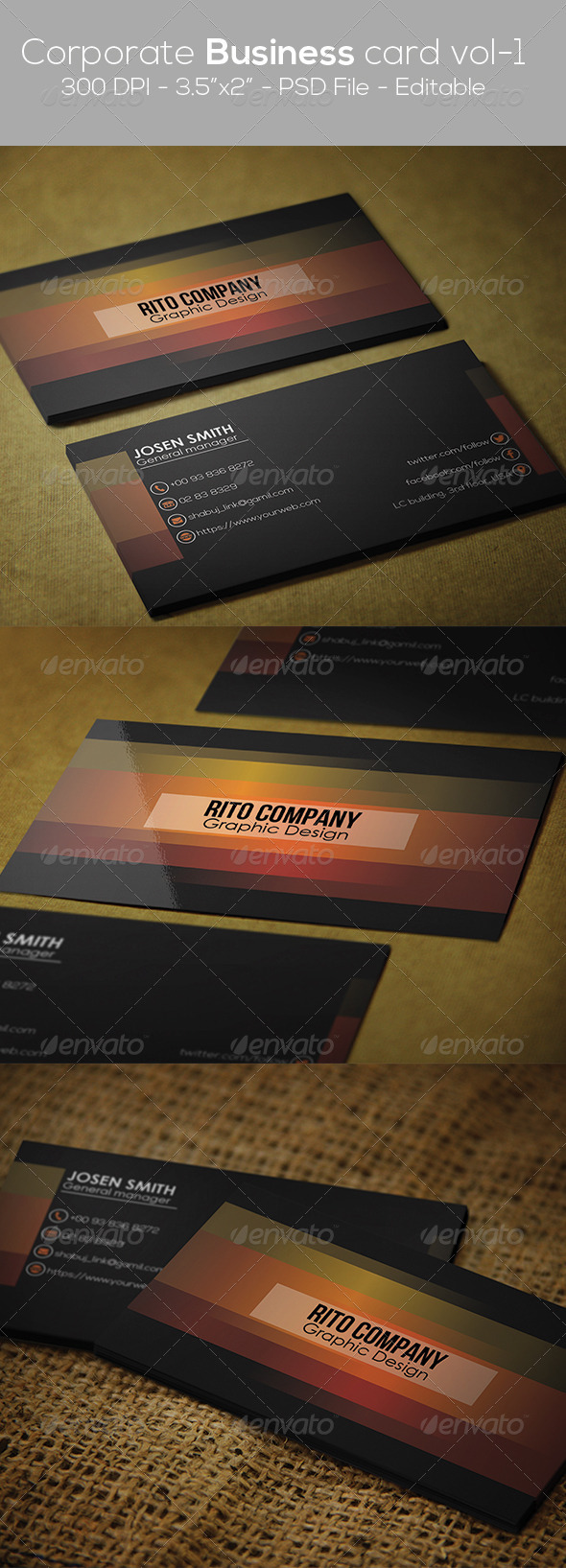 GraphicRiver Corporate Business Card Vol 01 8064993