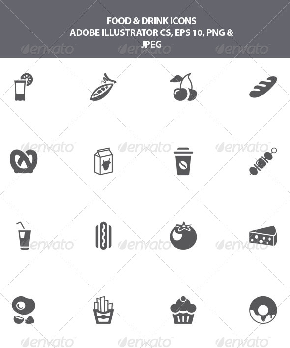 GraphicRiver Food and Drink Icons 8065015