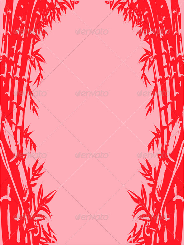 GraphicRiver Background Sketch of Oriental Bamboo 8065162