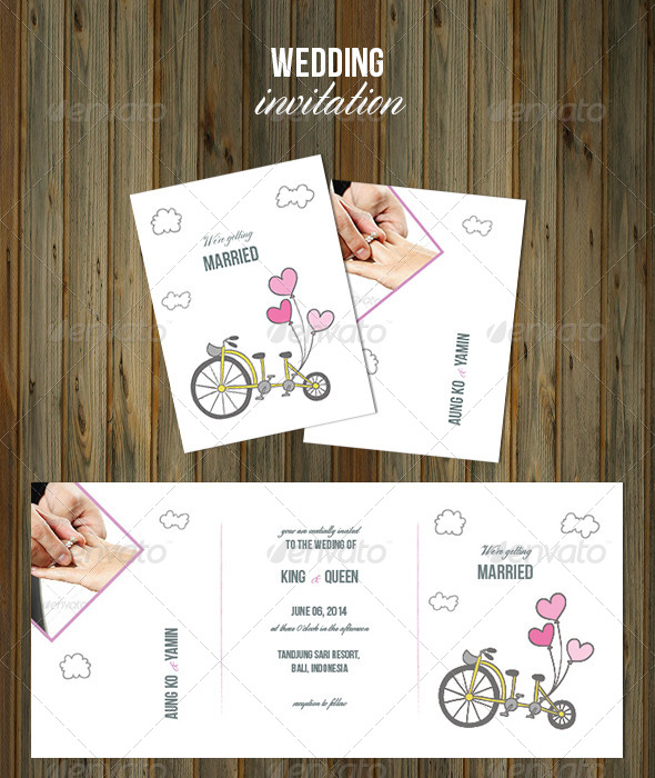 GraphicRiver Wedding Invitation 8065314