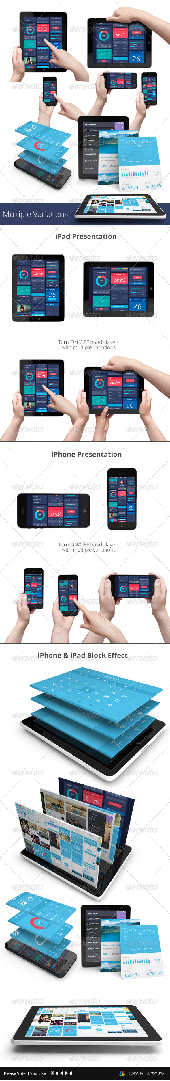 GraphicRiver App UI Phone & Tablet Mock-up Hands Holding 8060984