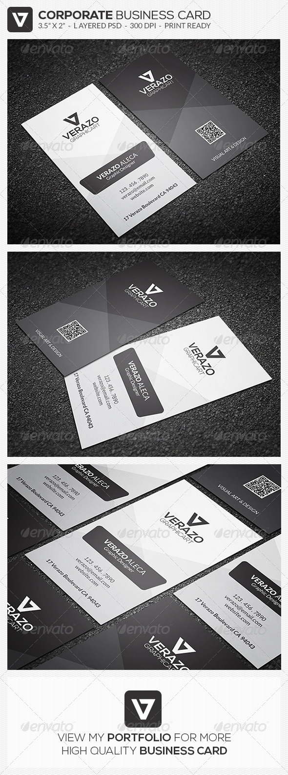 GraphicRiver Minimal Business Card 43 8065481