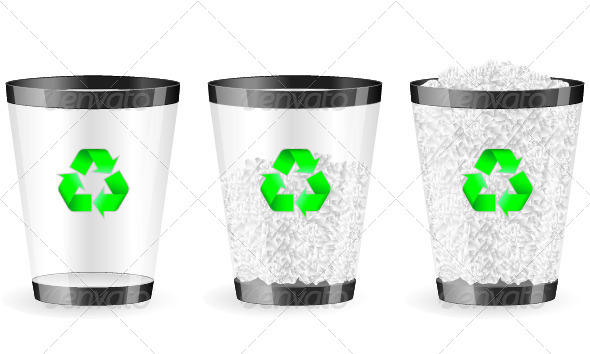GraphicRiver Recycle Bin Set 8065495