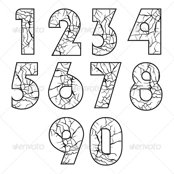 GraphicRiver Cracked Numbers 8065507