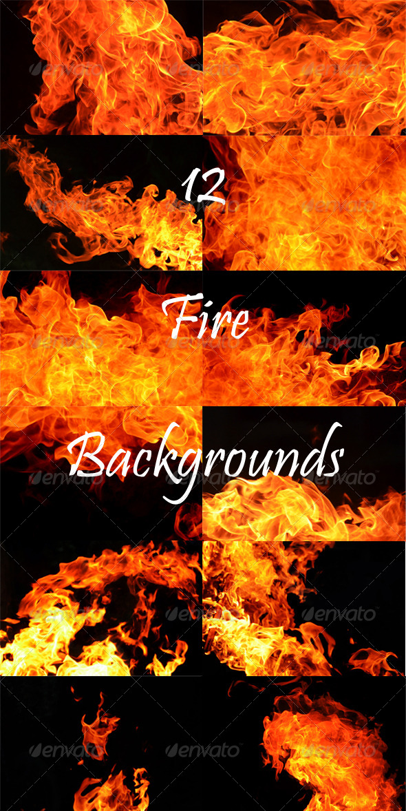 GraphicRiver 12 Fire Backgounds 8060630