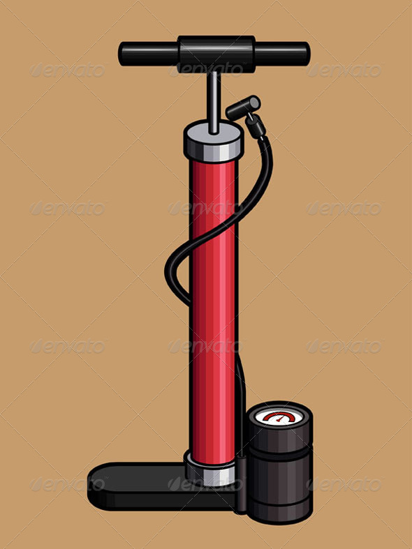 GraphicRiver Bicycle Hand Air Pump 8065816