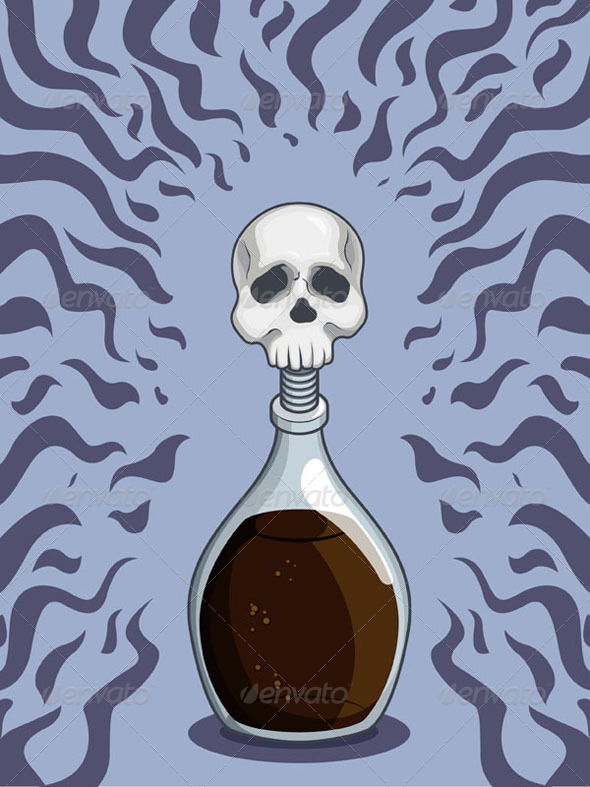 GraphicRiver Bottle of Deadly Poison 8065844