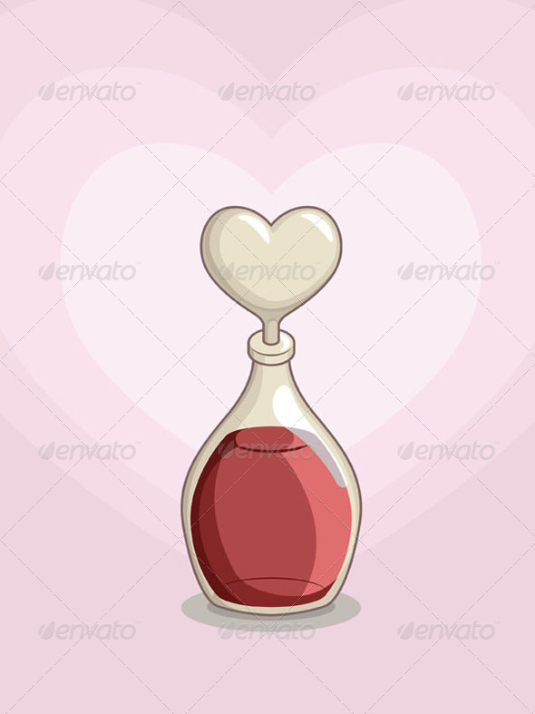GraphicRiver Bottle of Love Potion 8065892