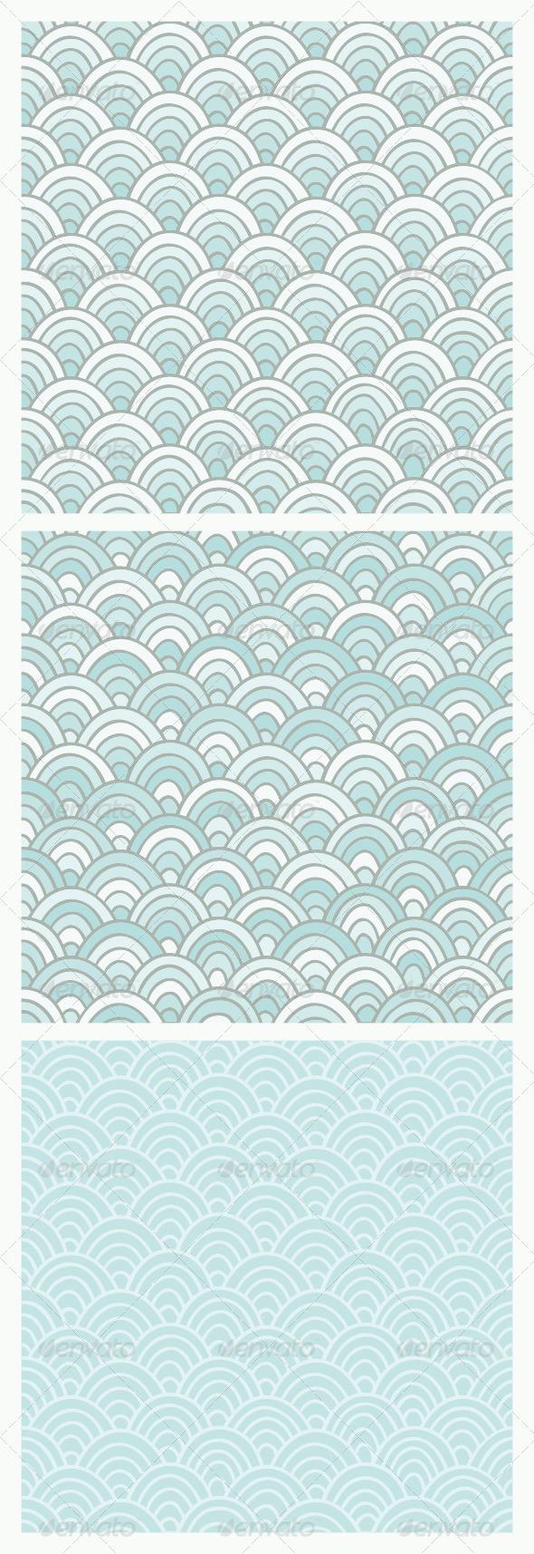 GraphicRiver Blue Doodle Pattern 8066044