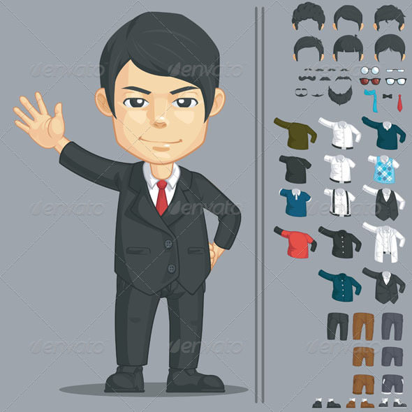 GraphicRiver Businessman Customizable Character 8066055