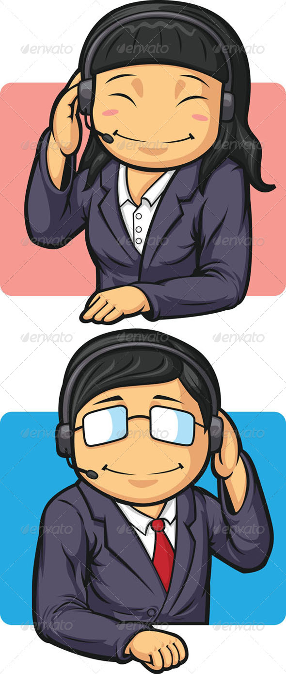GraphicRiver Call Center Workers 8066160