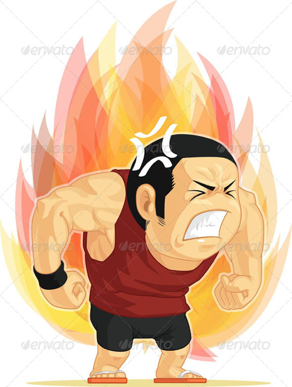 GraphicRiver Cartoon of Angry Man 8066204
