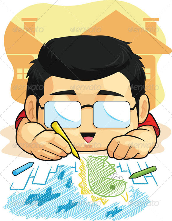 GraphicRiver Boy Loves Drawing & Doodling 8066288