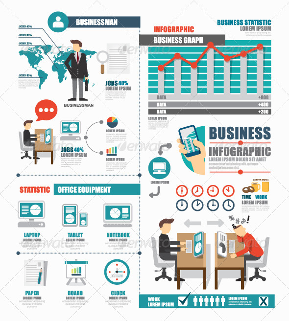 GraphicRiver Infographic Business World Job Template Design 8066294