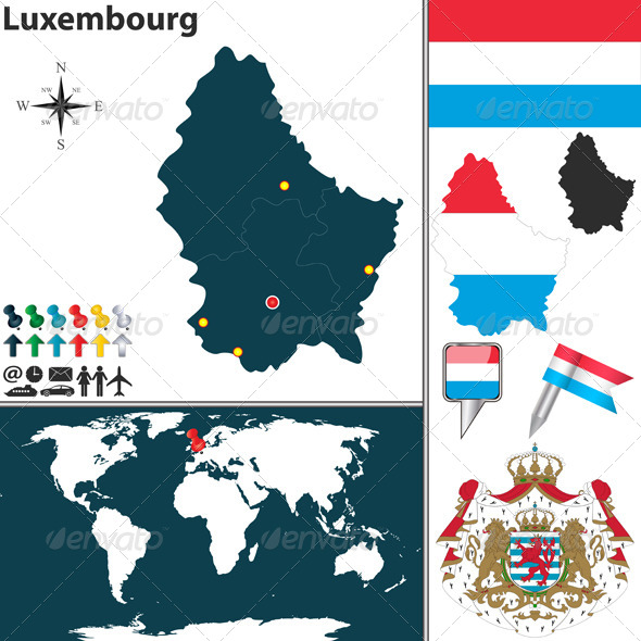 GraphicRiver Map of Luxembourg 8066348