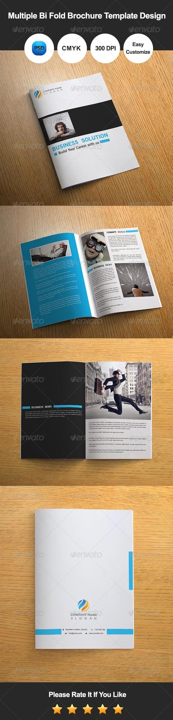 GraphicRiver Multiple Bi Fold Brochure Template Design 8067011