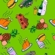 Seamless Pattern of Food and Drinks - GraphicRiver Item for Sale