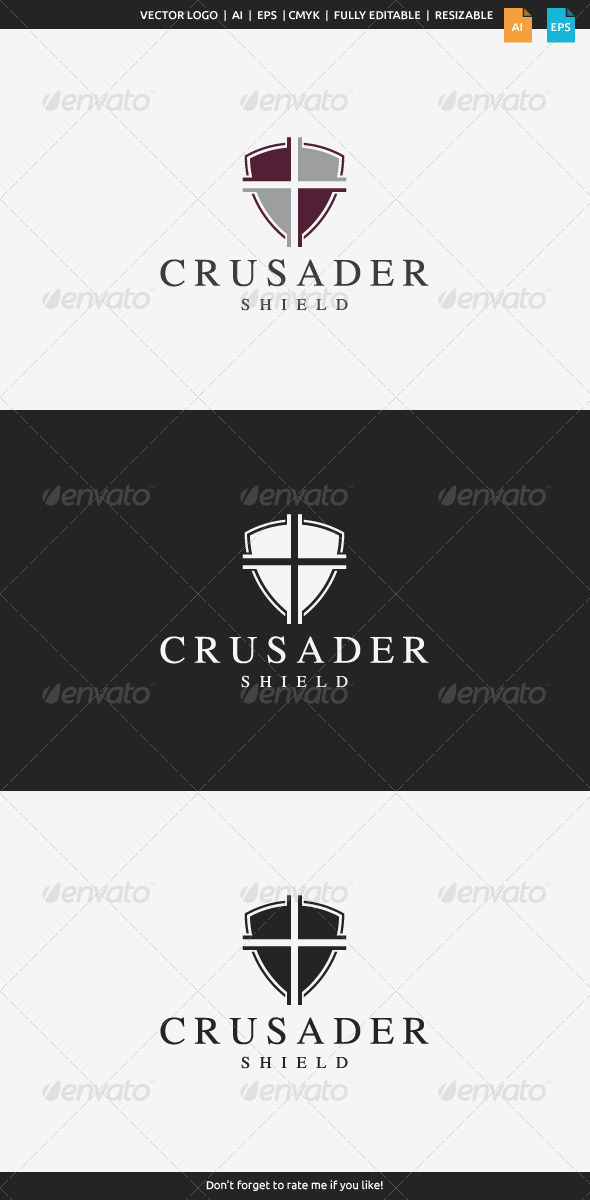 GraphicRiver Crusader Shield Logo 8067068