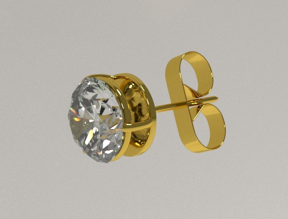 3DOcean Golden Ear Stud 8067097