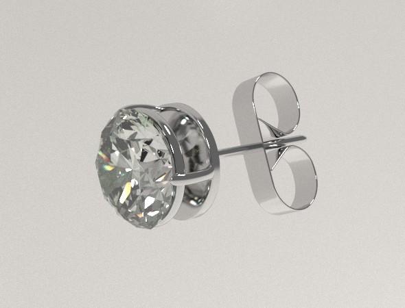3DOcean Silver Ear Stud 8067128
