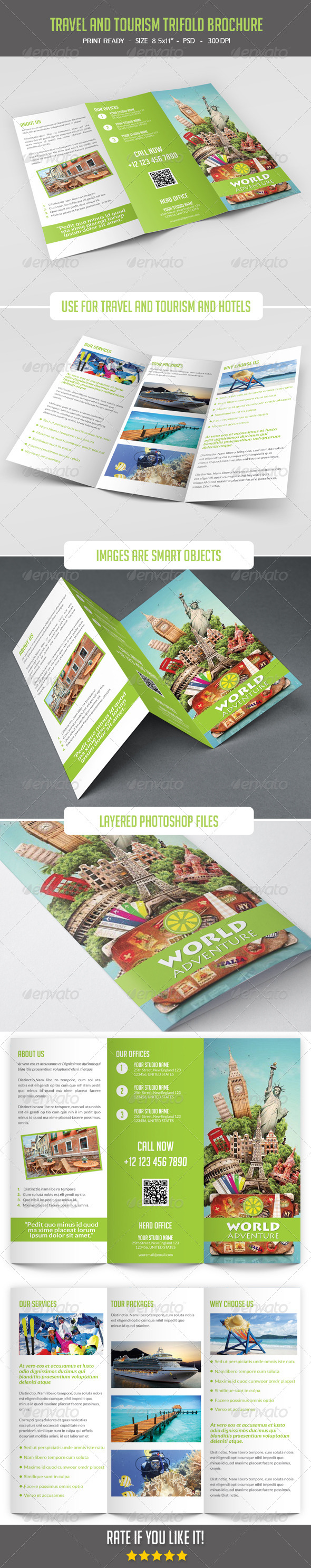 GraphicRiver Travel and Tourism Trifold Brochure 8067157