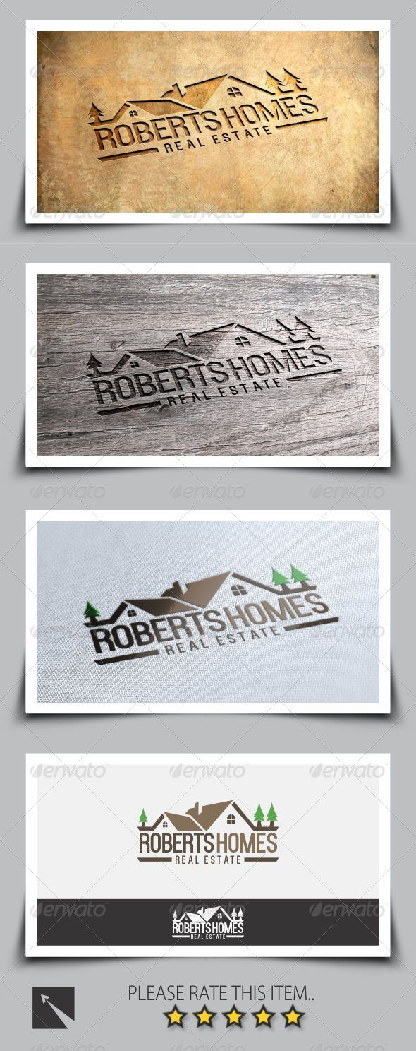 GraphicRiver Roberts Homes Real Estate Logo Template 8067245
