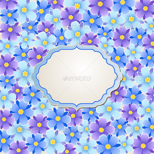 GraphicRiver Blue and Violet Flowers 8067379
