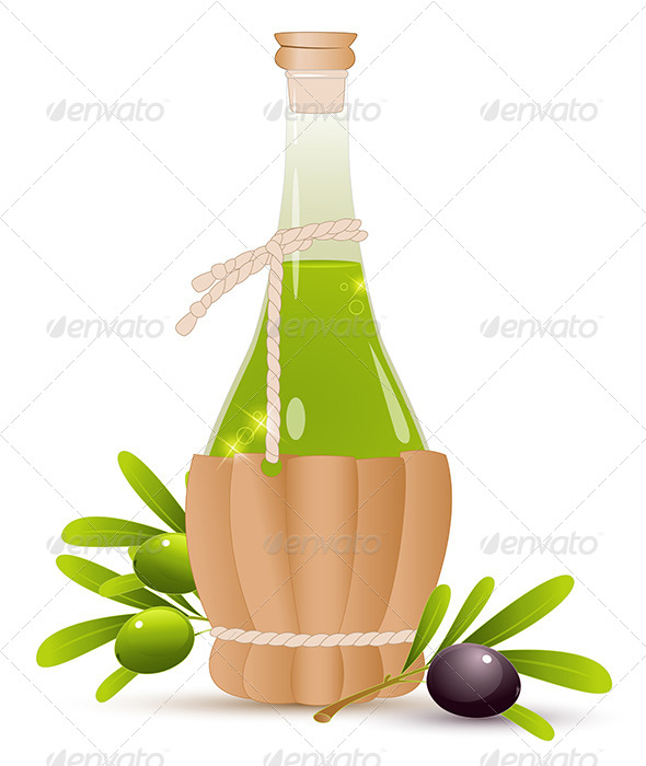 GraphicRiver Bottle with Olive Oil 8067391