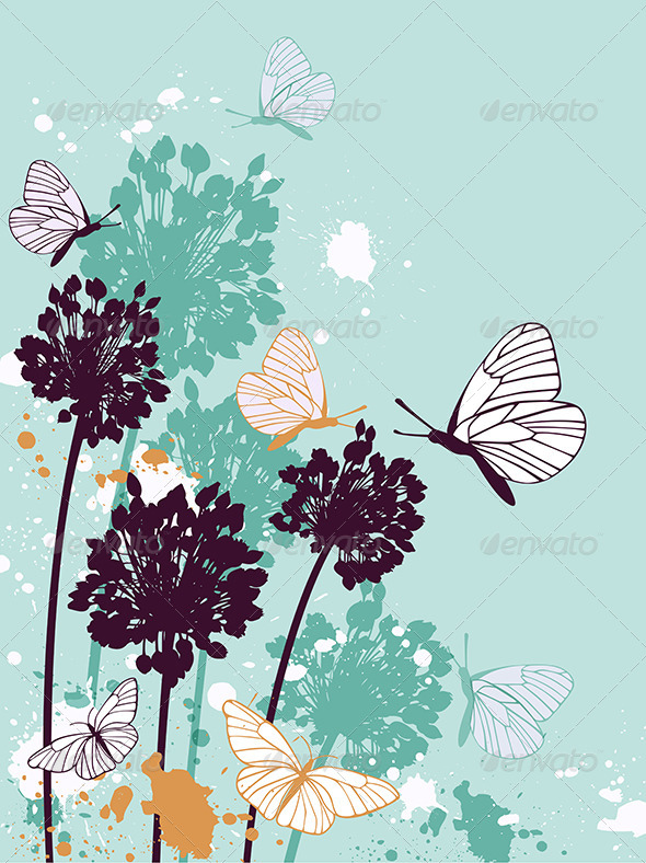 GraphicRiver Decorative Floral Background 8067402