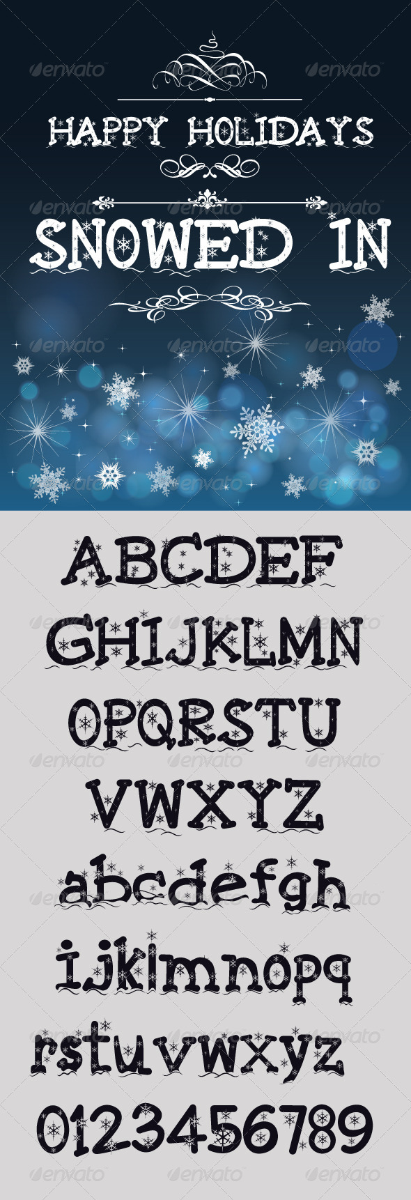 GraphicRiver Snowed In Font 8067554