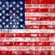 Painted USA flag - PhotoDune Item for Sale